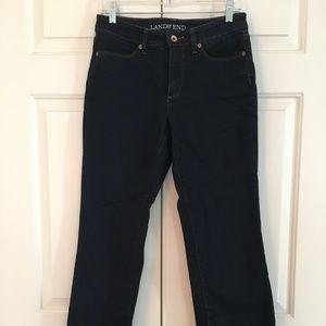 Land's End Bootcut Dark Wash Jeans Size 6